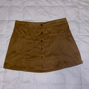 Suede Mini Skirt from Altar'd State
